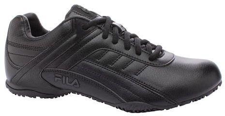 fila women's memory elleray 5 slip resistant  black