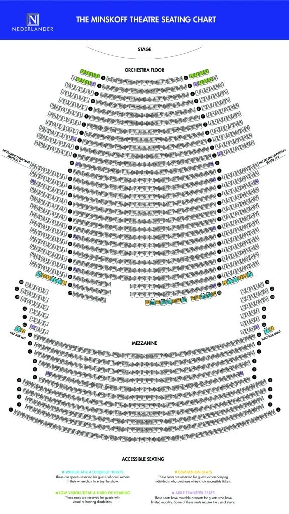 The Most Incredible Broadway Theatre Seating Chart Seating Charts Theater Seating Imperial Theater