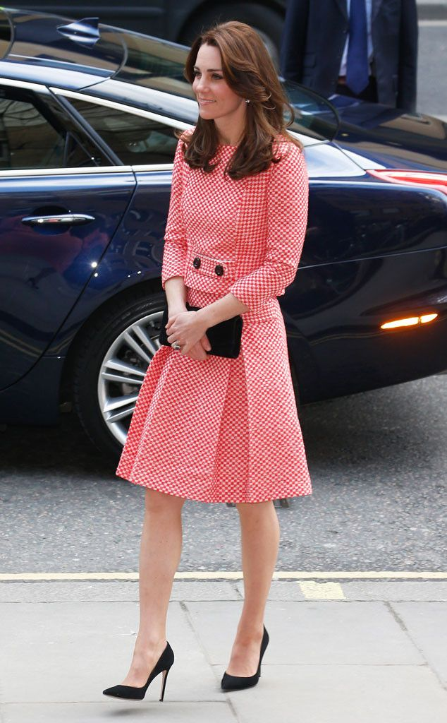 Kate Middleton Looks Lovely in Red & White at Youth Charity Visit With Prince William | E! Online