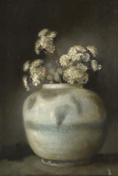 Pieter Knorr(Dutch, b.1950) Sedum 2011 Olieverf op paneel