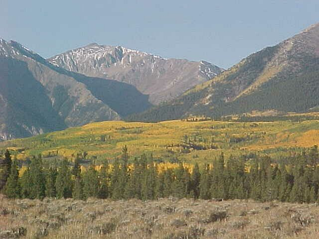 one of the most exceptional North American autumn tree color spots to enjoy.: Independence Pass and Leadville, Colorado