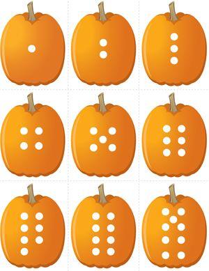 Pumpkin Concentration - Number Dots   Fuel the Brain Printables