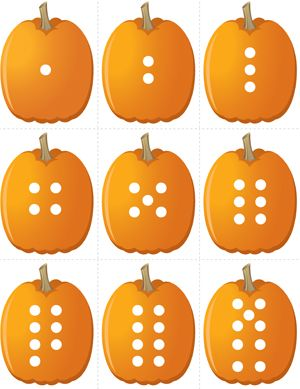 Pumpkin Concentration - Number Dots | Fuel the Brain Printables