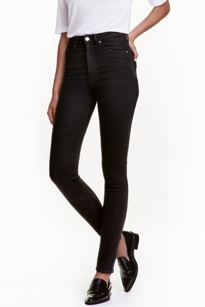 Shaping Skinny High Jeans: Shaping. 5-Pocket-Jeans aus gewaschenem Denim mit Technical Stretch, der Taille, Oberschenkel und Po schlanker wirken lässt und die Jeans formstabil macht. Modell mit extra schmalem Bein und hohem Bund.