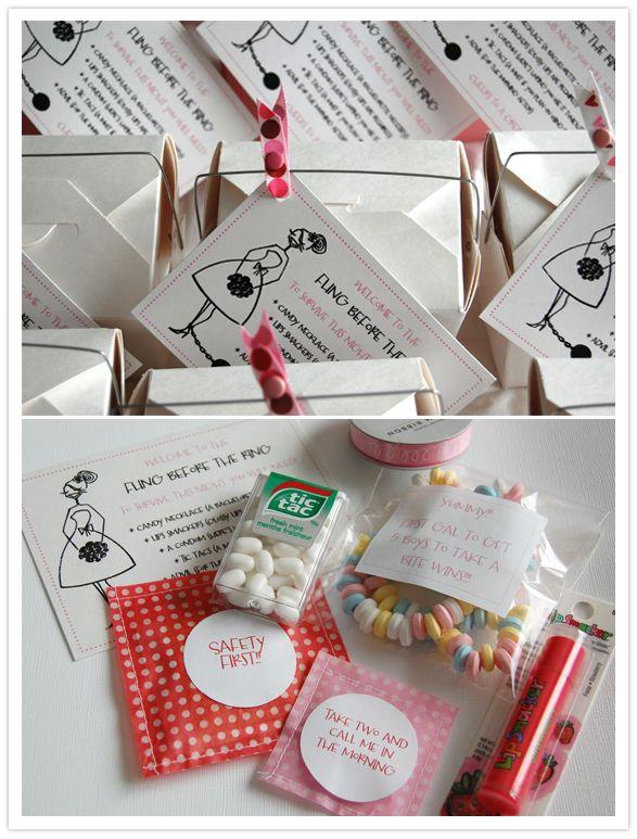 Sweet Talk: Bachelorette Party Gift Bag Idea.