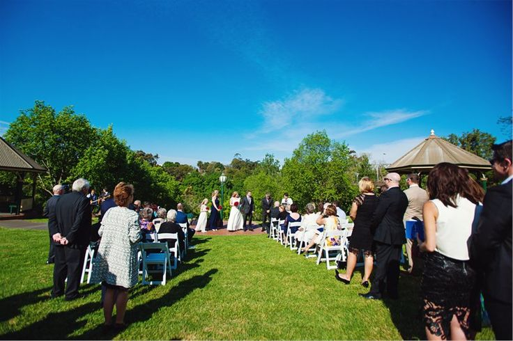 Wonderful outdoor Park ceremony in O'Connell Reserve - Wedding Reception followed in the all weather proof Marquee