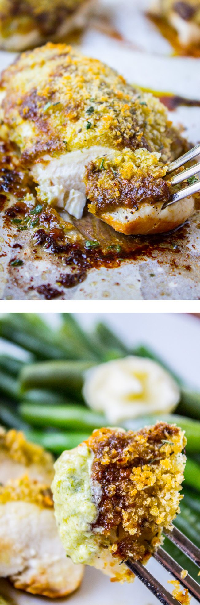 Easy Baked Pesto Chicken from The Food Charlatan // 30 minutes and 4 ingredients! Can't beat that. #HungerIsUS #spon