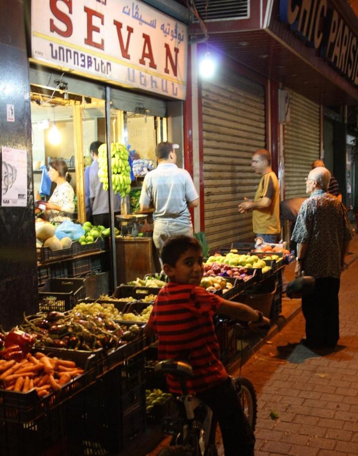 Bourj Hammoud (Little Armenia) at night. Sevan Market. (photo by Dima Karam)
