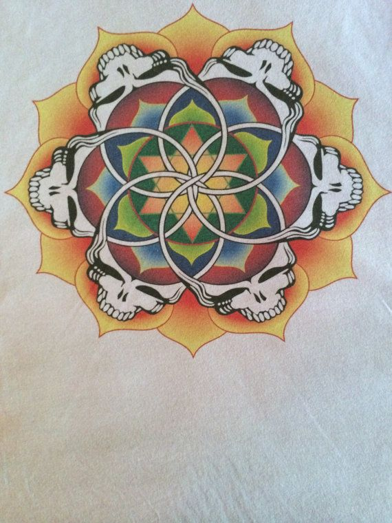 Grateful Dead Mandala Women's Tshirt printed by Scarletfiredesigns