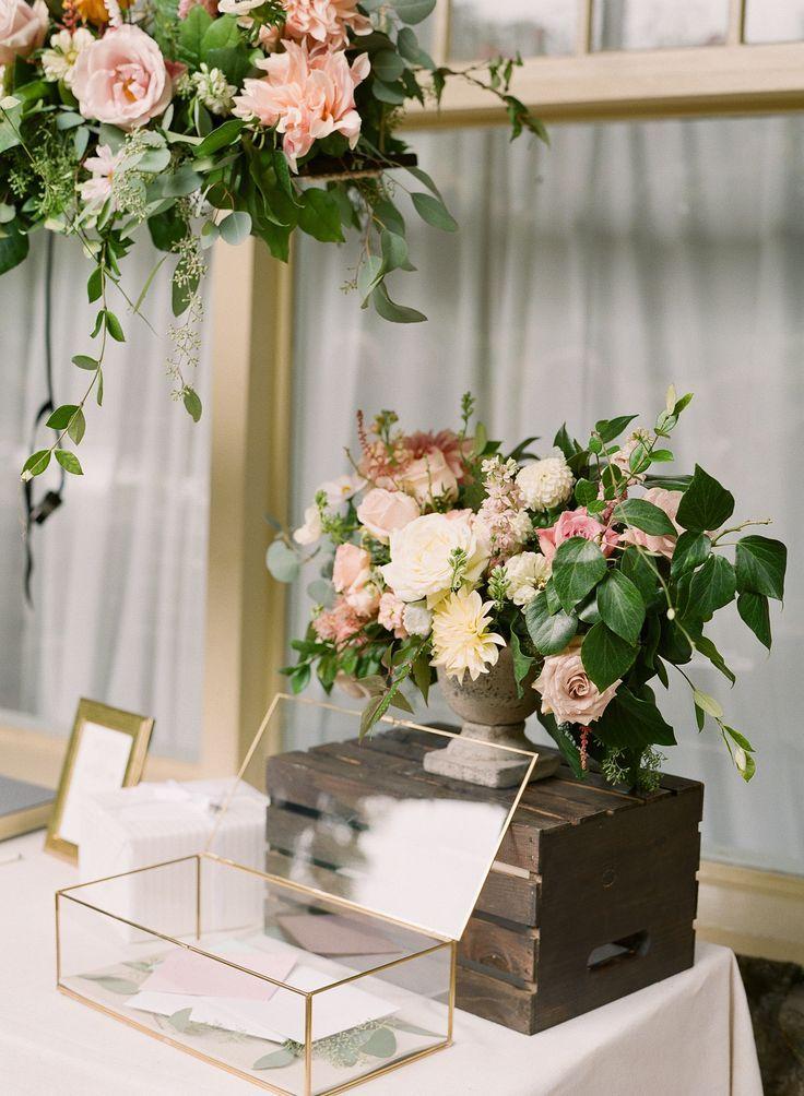wood wedding card holders%0A Gold glass geometric card box    wedding  rustic  modern  romantic  trend