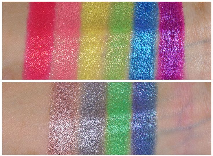 "Coulour pop ""super shock"" eyeshadows swatches"