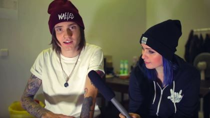 "ASKING ALEXANDRIA's DENIS SHAFOROSTOV Talks Tattoos On PitCam TV's 'Behind The Ink' (Video) ASKING ALEXANDRIA's DENIS SHAFOROSTOV Talks Tattoos On PitCam TV's 'Behind The Ink' (Video)        New  ASKING ALEXANDRIA  singer  Denis Shaforostov  formerly of Ukrainian metalcore act  MAKE ME FAMOUS  recently talked about some of his tattoos for  PitCam TV 's  ""Behind The Ink""  segment. The clip can be viewed below.        In interview with U.K.'s  Kerrang!  magazine  ASKING ALEXANDRIA  guitarist…"