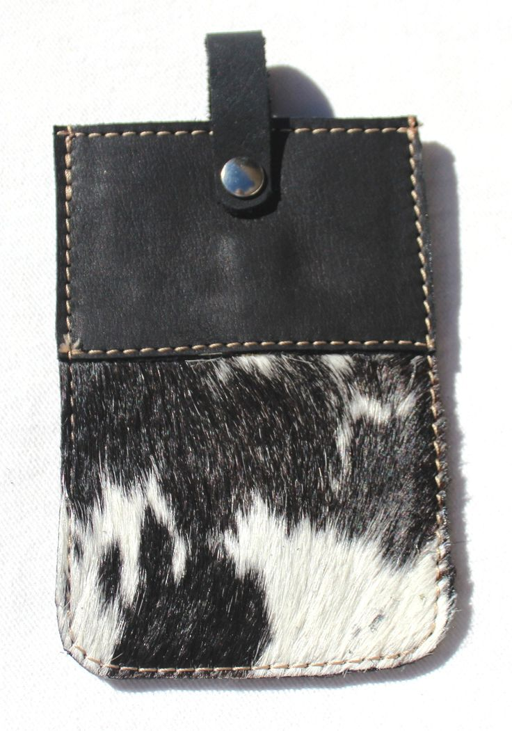 CELL PHONE CASE in cowfur & leather
