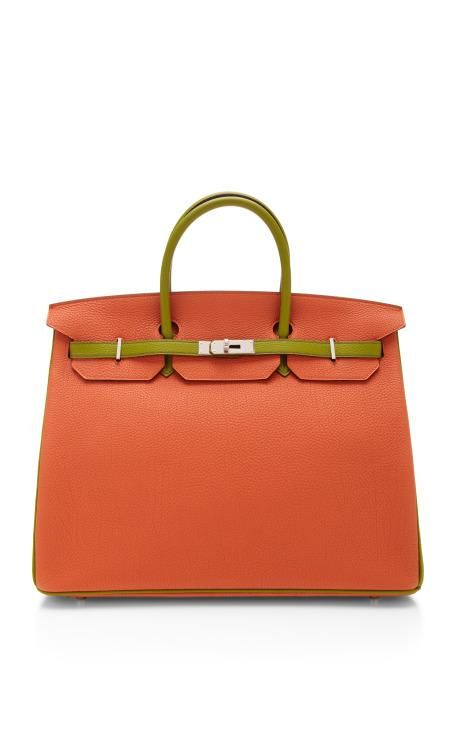Hermes 40Cm Orange H & Vert Anis Togo Leather Horseshoe Birkin by Heritage Auctions Special Collections for Preorder on Moda Operandi