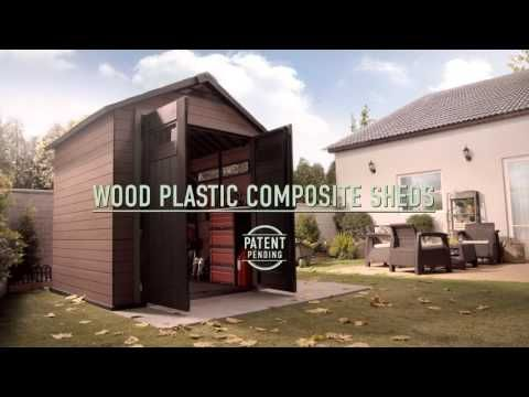 Wood Plastic Composite Shed  Keter Fusion - YouTube