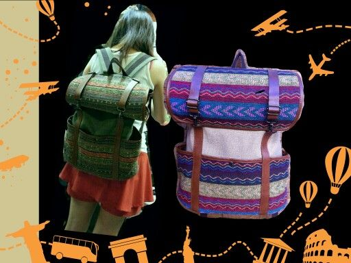 Rolled backpack