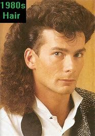 Image result for 80s mullet hairstyle