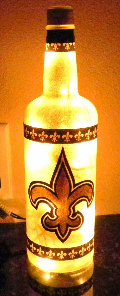 New Orleans Saints Football Team Bottle Light by booklooks on Etsy, $22.00