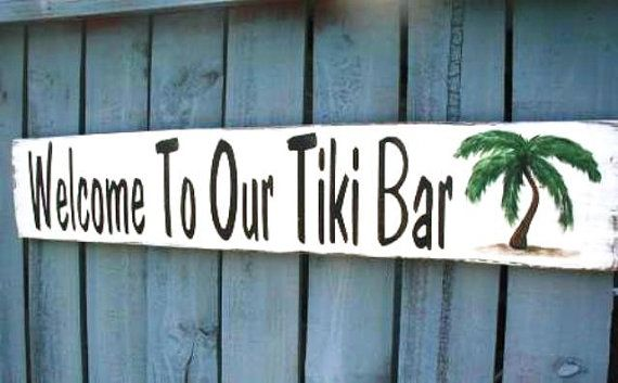 Tiki bar and patio sign  fathers day by kpdreams on Etsy, $20.00