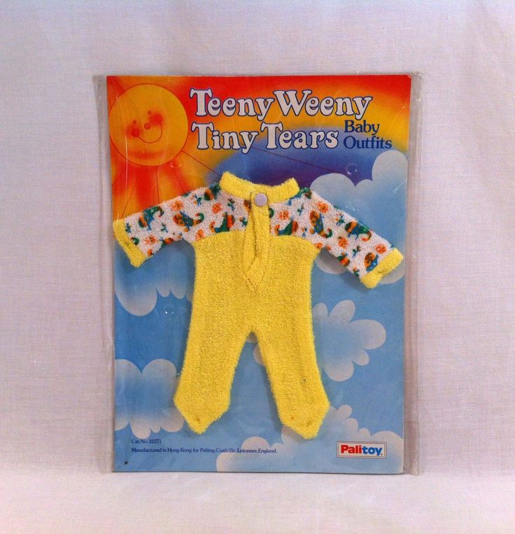 NEW 1980s Palitoy ☆ Teeny Weeny Tiny Tears ☆ Vintage Baby Outfit #32271 MOC in Dolls & Bears, Dolls, Clothing & Accessories, Vintage Dolls | eBay