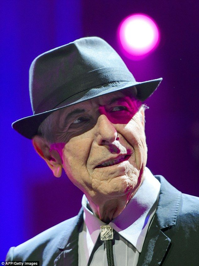 Leonard Cohen (pictured) has died 'pecefully' aged 82, at his home in Los Angeles, California, his son Adam said