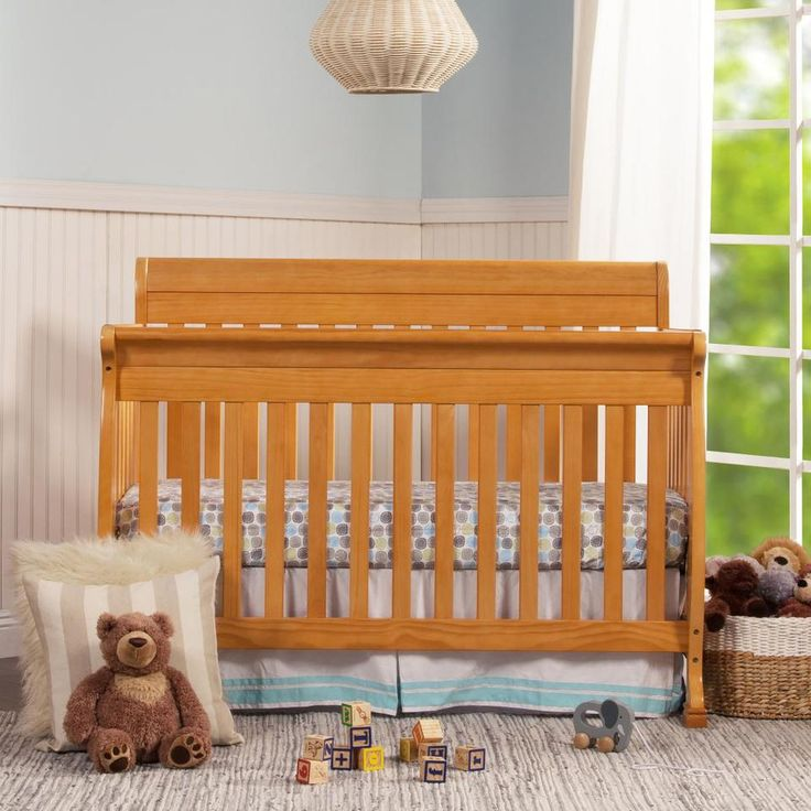 DaVinci Kalani 4-in-1 Convertible Crib - Honey Oak