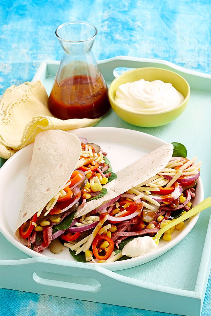 Flavoursome, easy and ready in just 10 minutes, these tasty soft shell tacos are perfect for lunch.