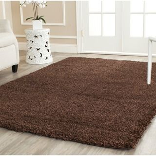 Safavieh California Cozy Solid Brown Shag Rug (6'7 x 9'6) | Overstock.com Shopping - The Best Deals on 5x8 - 6x9 Rugs
