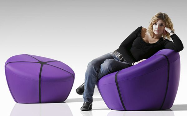Ultra Modern Pouf by Steiner becomes a chair!