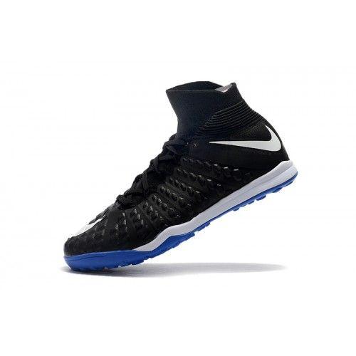 Baratas 2017 Nike Hypervenom Phantom III DF TF Hombre Azul Negro Zapatos De  Futbol