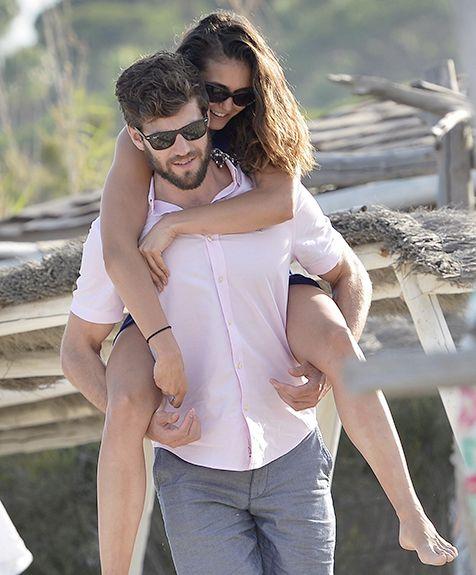 Nina Dobrev rides on her new boyfriend Austin Stowell's back in St. Tropez.