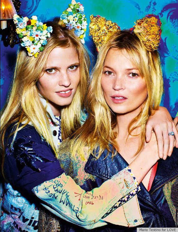 Fashion editorial - Kate Moss + Lara Stone, by Mario Testino ♥: Mario Testino, Lara Stones, Biker Jackets, Katemoss, Mariotestino, Fashion Editorial, Cat Ears, Kate Moss, 30 Years