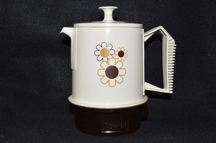 Vintage Regal Poly-Perk 4 Cup Coffee Percolator, Electric Coffee Pot Daisy Design, 1970s Retro Kitchen, Adorable Coffee Maker and It Works! by FabulousVintageStore on Etsy