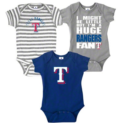If I could have another baby boy--    Texas Rangers Infant Baby Rib Creeper 3-Pack