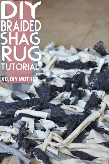 DIY Rug Tutorial - Easy and fun DIY soft shag rug! #DIY #craft #home