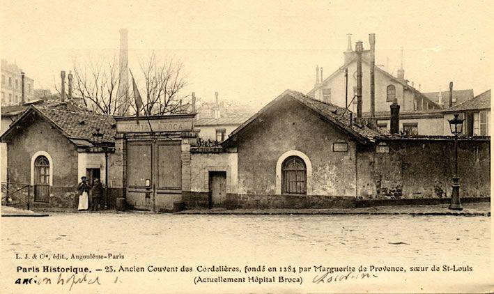 Hôpital Broca - Ancien Couvent des Cordelières, fondé en 1284 par Marguerite de Provence, soeur de Saint-Louis, actuellement Hôpital Broca - Paris 13e