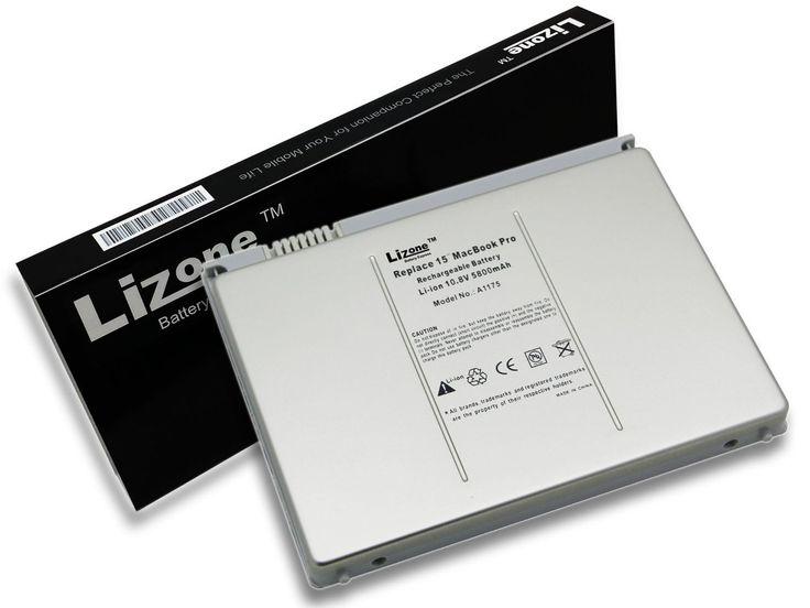 Lizone® High Performance Laptop Battery for Apple MacBook Pro 15 inch A1175 A1211 A1226 A1260 A1150 2006 2007 2008 Version Laptop battery, Aluminum Body as Original (Not Plastic) -18 Months Warranty/Super Capacity Li-Polymer 5800mAh (62.5Wh)