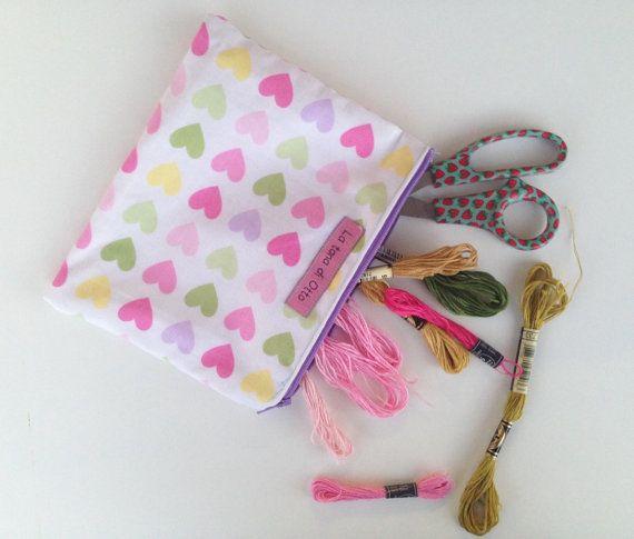 Pochette borsa di trucco caso cosmetico grande di LaTanaDiOtto