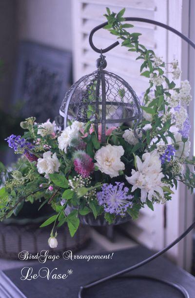 ゆらゆら揺れる鳥かご : Le vase* diary 横浜元町の花教室