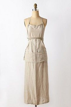 Would do anything for this apron for France trip Linen Utility Apron - eclectic - Aprons - Anthropologie