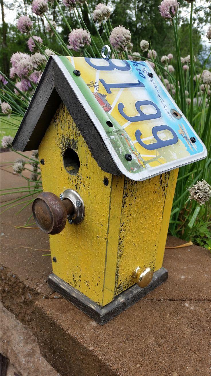 Image result for license plate birdhouse plans