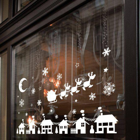 Christmas Xmas Display Shop Window Wall Decorations Decals Window Stickers Designagency Christmas Shop Window Christmas Window Lights Christmas Window Display