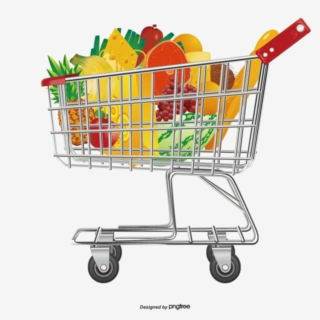 سوبر ماركت عربة التسوق عربة التسوق المرسومة ناقلات التسوق عربة Png والمتجهات للتحميل مجانا Supermarket Shopping Cart Background Images For Editing
