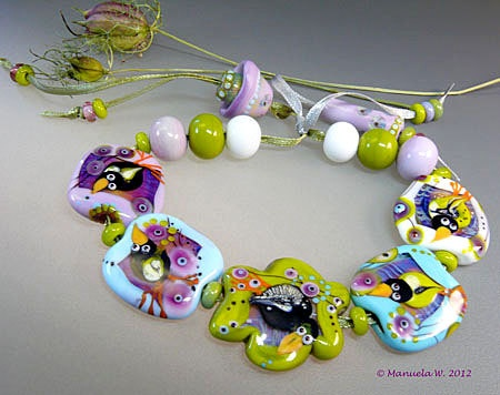 etsy transaction pastel spring handmade lampwork set of glass beads by manuela wutschke