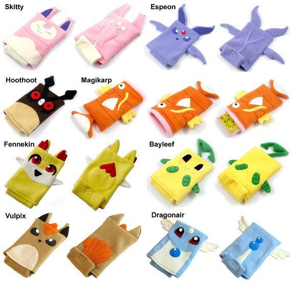 Pokemon nintendo ds case pouch fleece camera by fleacircusdesigns