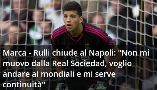 Geronimo Rulli, portiere della Real Sociedad chiude definitivamente al Napoli in una intervista rilasciata ai microfoni del prestigioso quotidiano spagnolo...