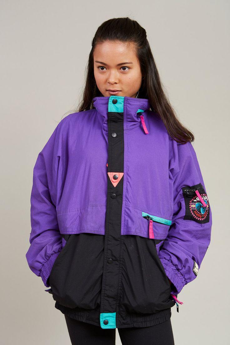 1980s Helly Hansen Purple Ski Jacket L