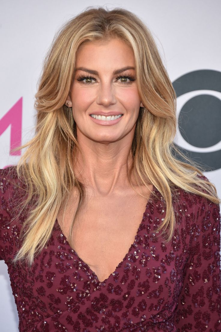 Faith Hill's Middle-Parted Long Layers - GoodHousekeeping.com