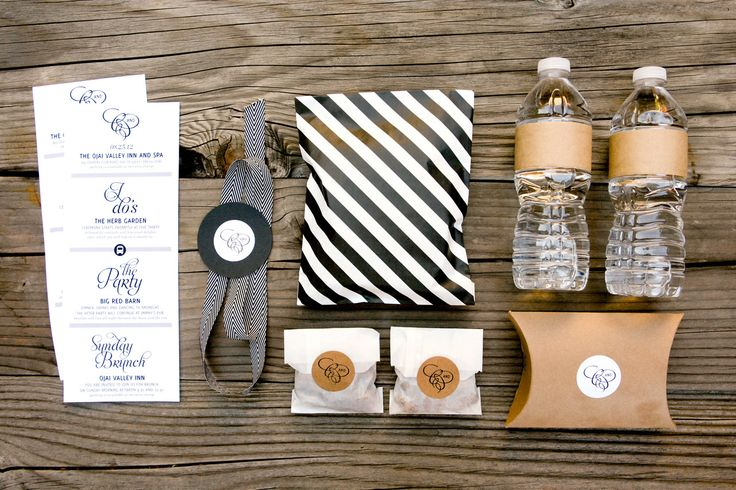 Bliss & Bone Welcome Box / Yvette Roman Photography / Sterling Social / Bliss & Bone  Good mix of modern black and white style with craft