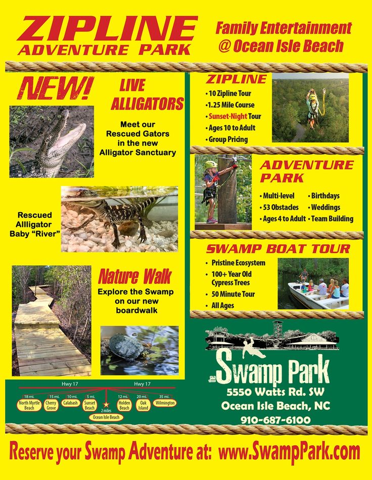 Watch this Ocean Isle Eco Adventure Park Video and experience a majestic tour while you explore the ecological benefits of this natural environment or indulge in one of the many action activities they have on hand at The Swamp Park & Outdoor Center. You can choose from one of their three fun-filled activities or maybe …
